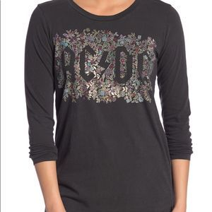 Lucky Brand • AC/DC Floral Graphic Long sleeve